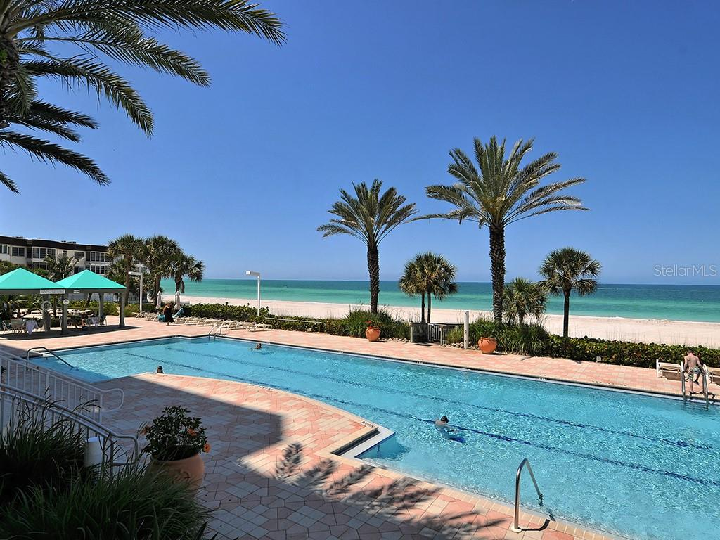 Pool Overlooking Turquoise Blue Waters - Condo for sale at 1800 Benjamin Franklin Dr #b409, Sarasota, FL 34236 - MLS Number is A4408201