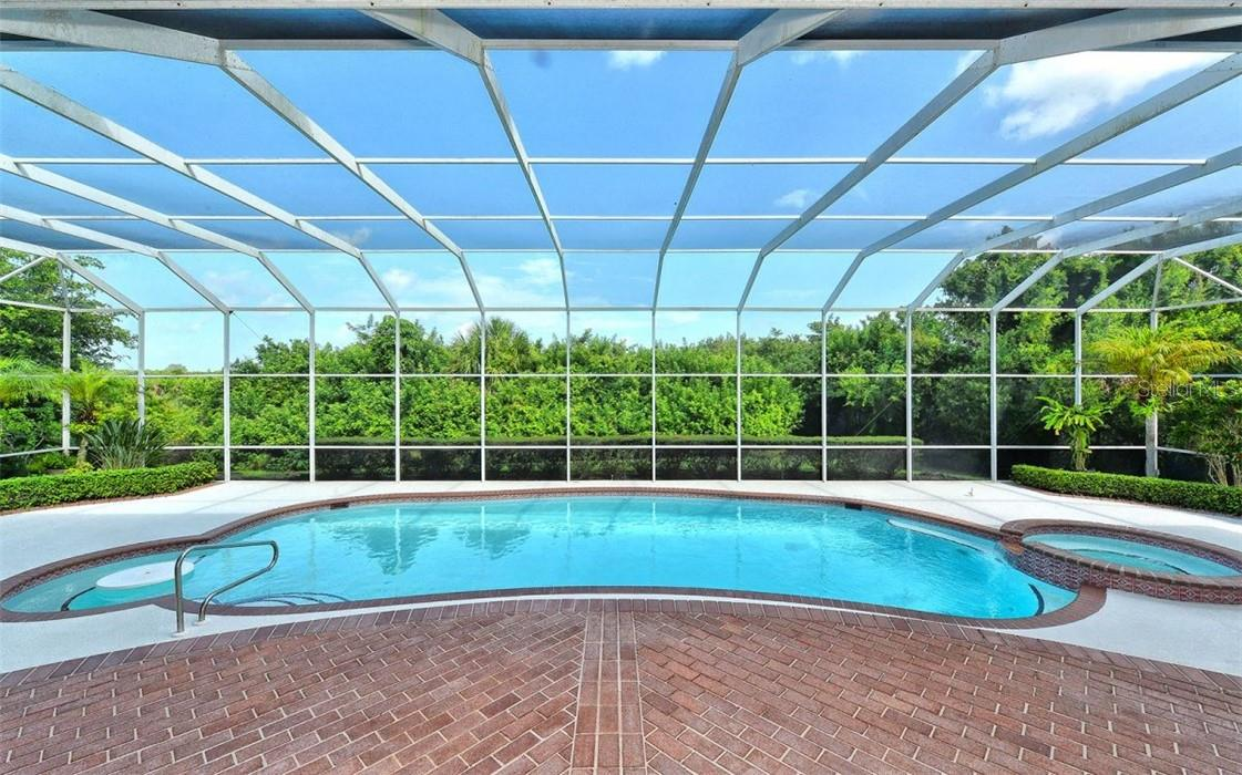 A relaxing and very private pool. - Single Family Home for sale at 1427 Cedar Bay Ln, Sarasota, FL 34231 - MLS Number is A4408881