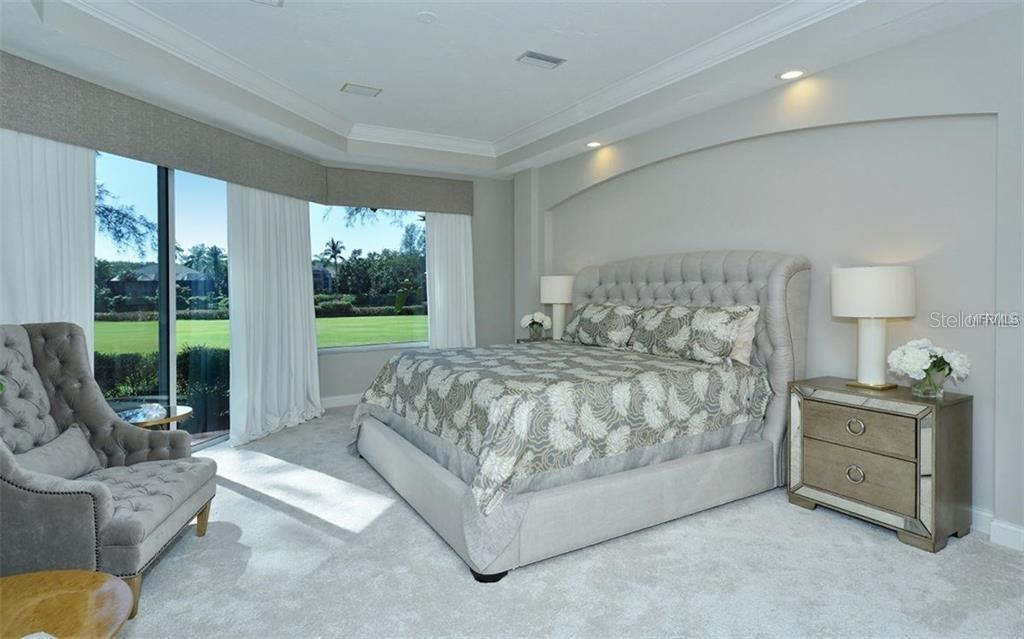 The main floor master bedroom is luxuriously finished - Single Family Home for sale at 3529 Fair Oaks Ln, Longboat Key, FL 34228 - MLS Number is A4414992