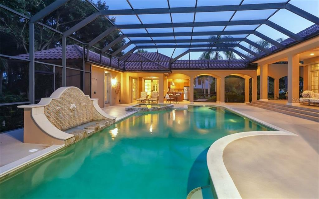 Pool Fountains - Large Deck - Single Family Home for sale at 2829 Wilfred Reid Cir, Sarasota, FL 34240 - MLS Number is A4416091