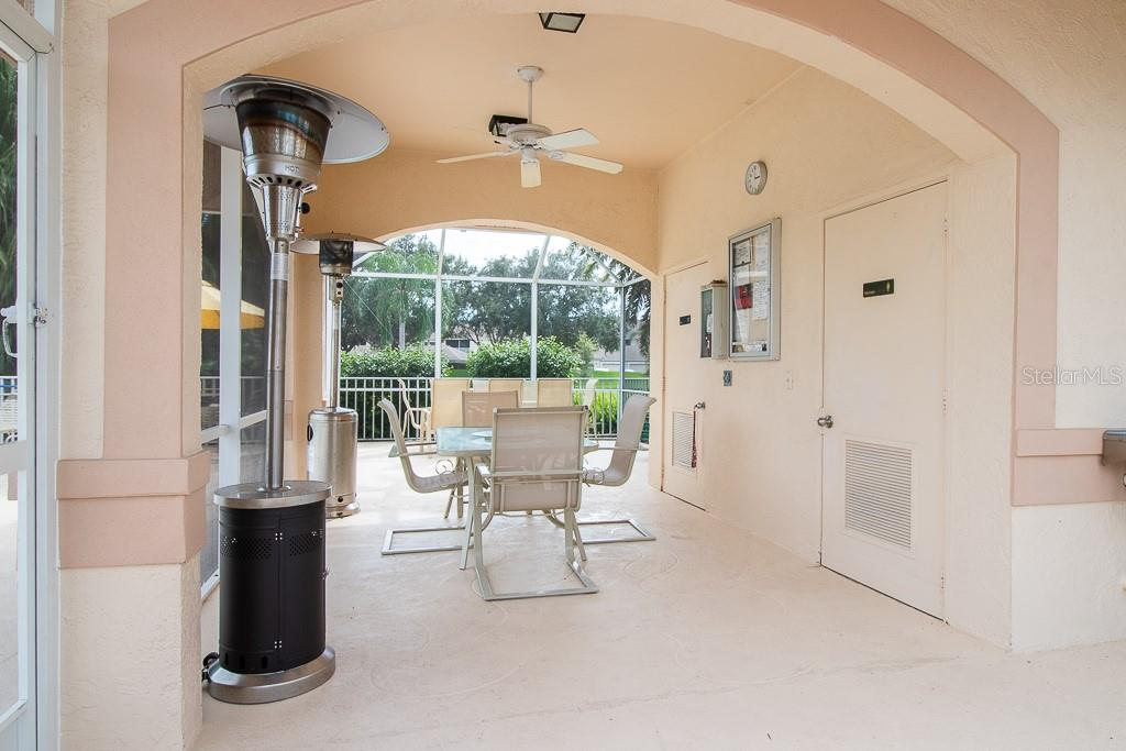 Club South screened in lanai area by pool - Condo for sale at 9620 Club South Cir #5110, Sarasota, FL 34238 - MLS Number is A4418081
