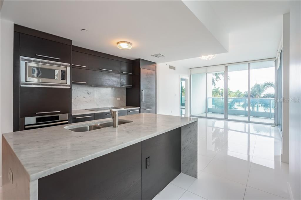 Sleek and Stylish Kitchen - Condo for sale at 900 Biscayne #301, Miami, FL 33132 - MLS Number is A4420957