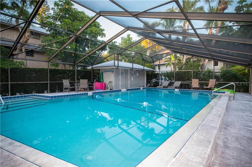 Back yard decks. - Single Family Home for sale at 108 Sand Dollar Ln, Sarasota, FL 34242 - MLS Number is A4421218