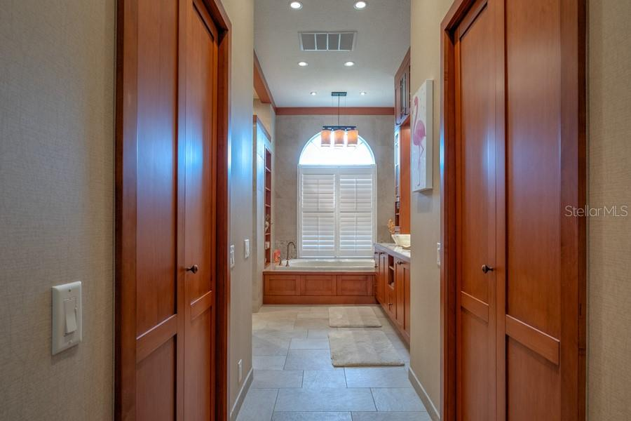 Master Spa Entrance w/His & Her Closets - Single Family Home for sale at 7791 Alister Mackenzie Dr, Sarasota, FL 34240 - MLS Number is A4422525
