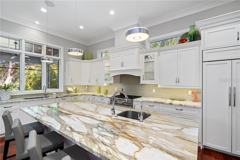 Stunning marble island. - Single Family Home for sale at 1575 Bay Point Dr, Sarasota, FL 34236 - MLS Number is A4425602