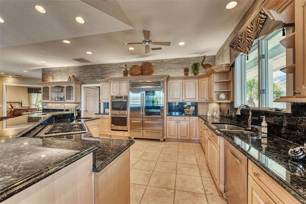 Check out the massive $16,000.00 Sub-Zero fridge. - Single Family Home for sale at 737 Eagle Point Dr, Venice, FL 34285 - MLS Number is A4428917
