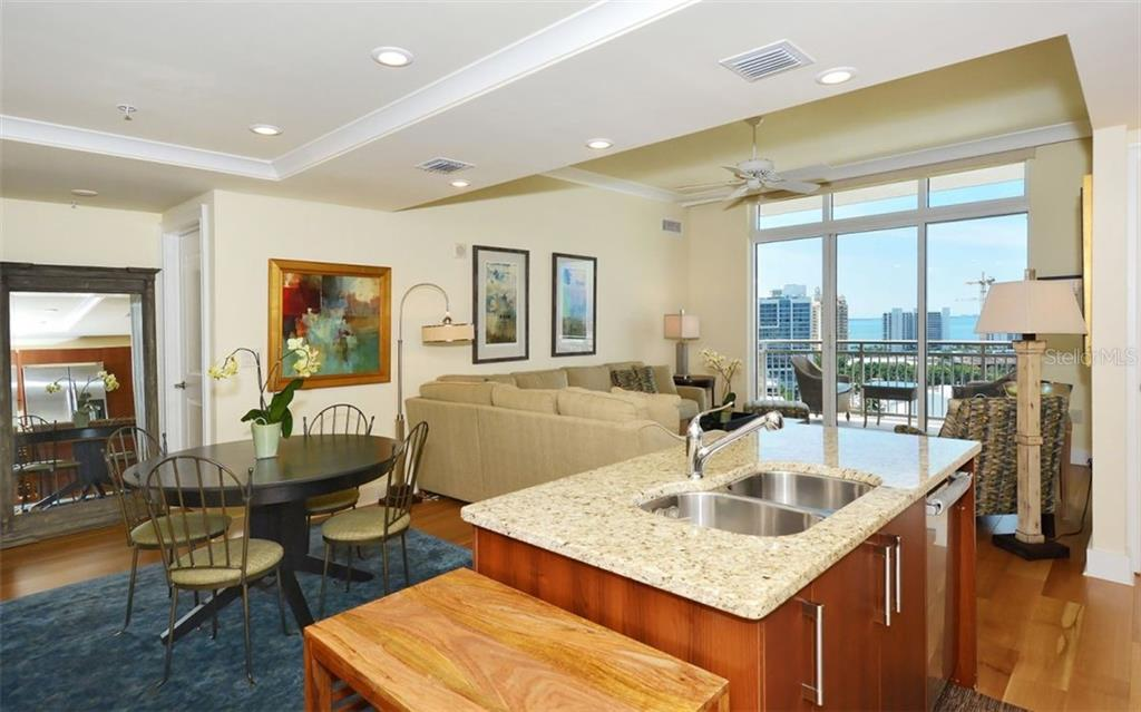 A view from the kitchen, too - Condo for sale at 1350 Main St #1500, Sarasota, FL 34236 - MLS Number is A4433444
