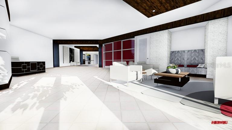RENDERING OF NEW LOBBY - Lobby remodeling under way, new photos in the near future. - Condo for sale at 101 S Gulfstream Ave #6d, Sarasota, FL 34236 - MLS Number is A4434802