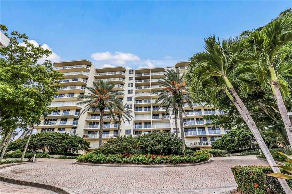 Building Front. - Condo for sale at 1800 Benjamin Franklin Dr #B408, Sarasota, FL 34236 - MLS Number is A4444789