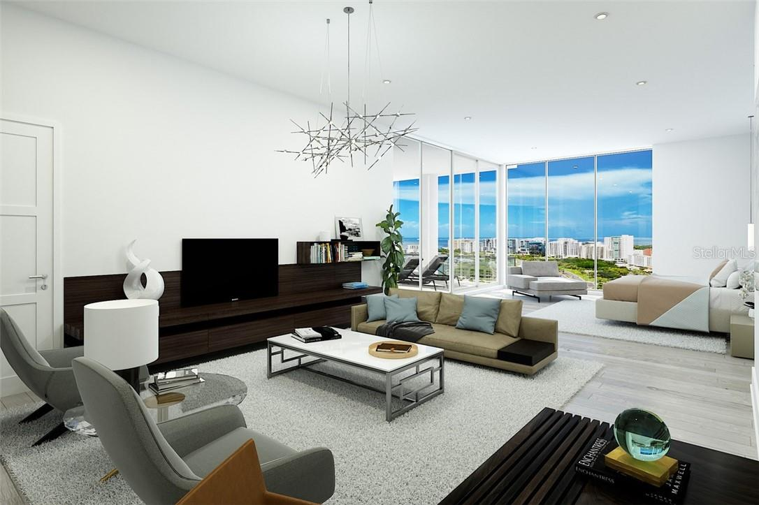 Owner's suite oversized sitting area - plenty of room for relaxation, retreat and rejuvenation. - Condo for sale at 605 S Gulfstream Ave #15, Sarasota, FL 34236 - MLS Number is A4453705
