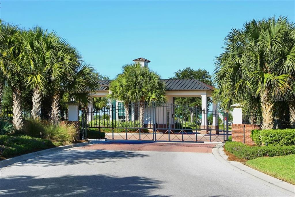 The Founders Club Front Entrance - Single Family Home for sale at 3719 Founders Club Dr, Sarasota, FL 34240 - MLS Number is A4455099