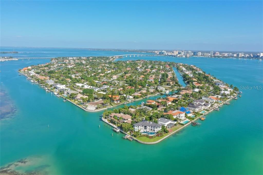 Stunning Bird Key located minutes from downtown, a completely residential Key. Lot is circled in Black. - Vacant Land for sale at 656 S Owl Dr, Sarasota, FL 34236 - MLS Number is A4457438