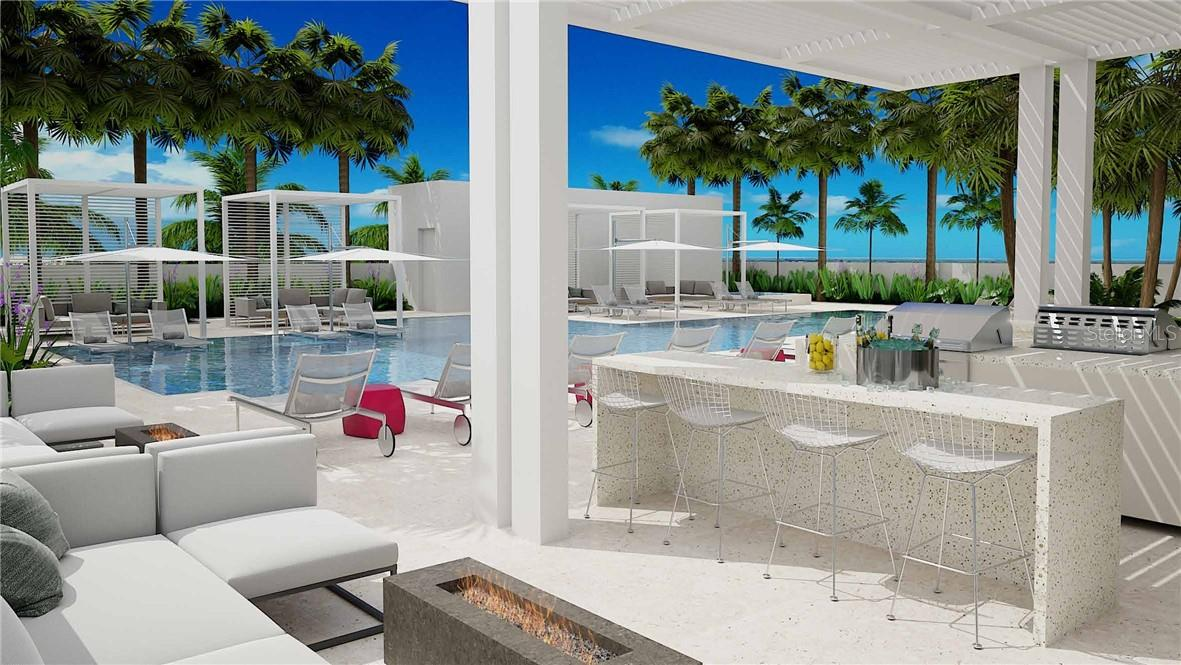 Owners will enjoy resort- inspired amenities like EPOCH's fire tables, bar and gas grills. - Condo for sale at 605 S Gulfstream Ave #Ph18, Sarasota, FL 34236 - MLS Number is A4458982