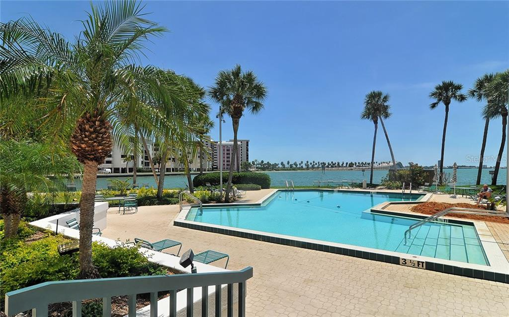 Community pool - Condo for sale at 888 Blvd Of The Arts #705, Sarasota, FL 34236 - MLS Number is A4461143