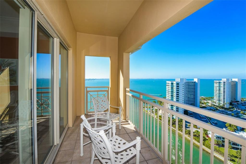 Balcony #1 View! - Condo for sale at 1111 Ritz Carlton Dr #1803, Sarasota, FL 34236 - MLS Number is A4461520