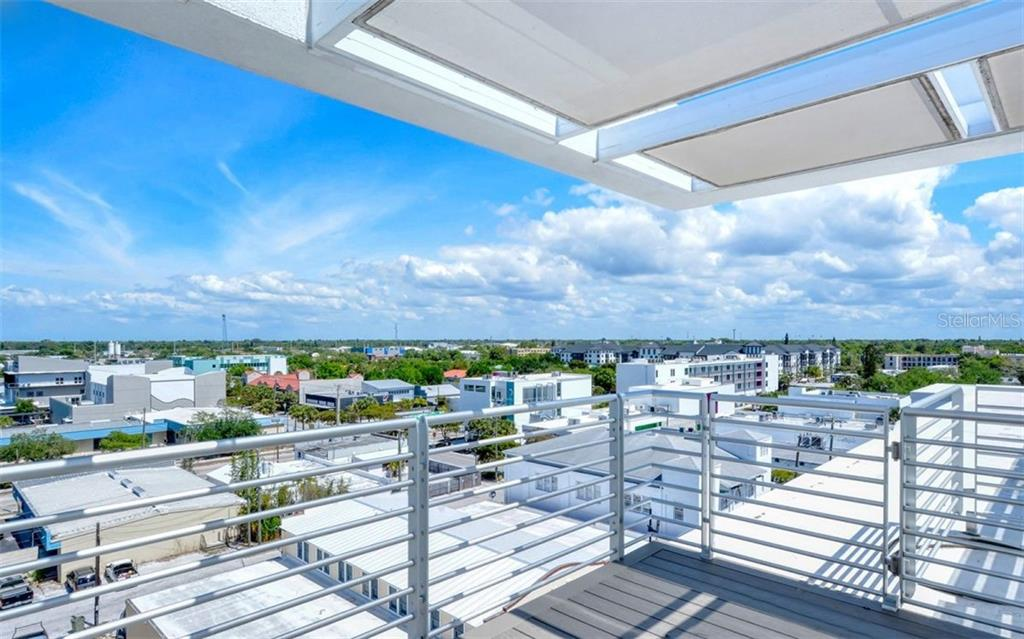 Flying rooftop observation decks invite you to relax and enjoy the bay and city views. - Condo for sale at 1350 5th Street #104, Sarasota, FL 34236 - MLS Number is A4463799