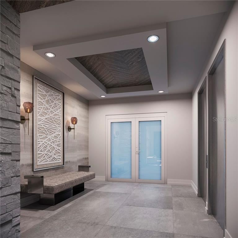 *new lobby rendering NEAR ELEVATOR OFF GARAGE ENTRY - Condo for sale at 500 S Palm Ave #102, Sarasota, FL 34236 - MLS Number is A4469606