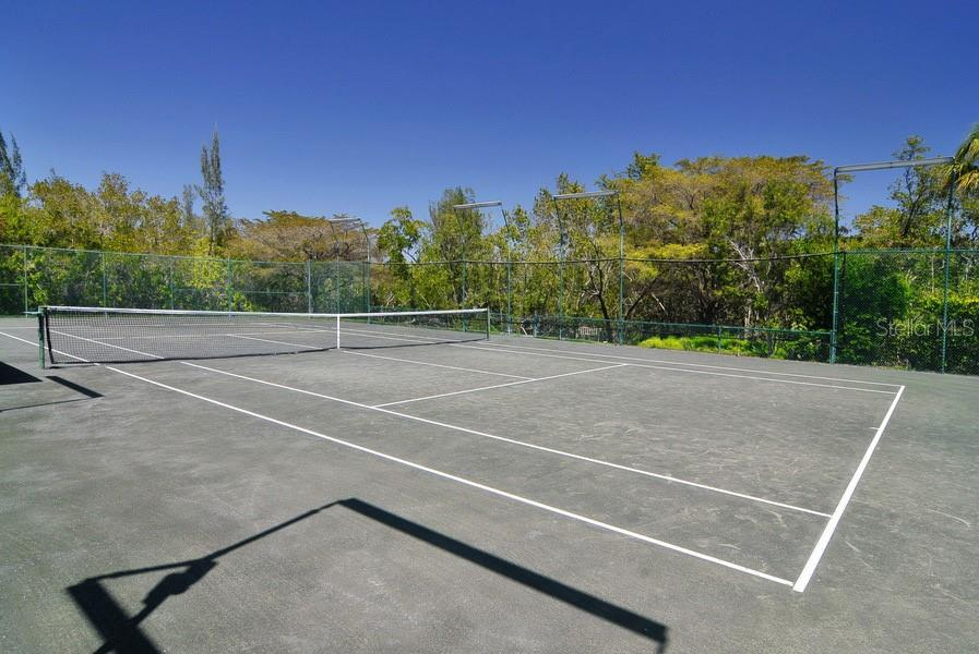 2 Har-Tru tennis courts with lighting - Townhouse for sale at 69 Tidy Island Blvd #69, Bradenton, FL 34210 - MLS Number is A4471437