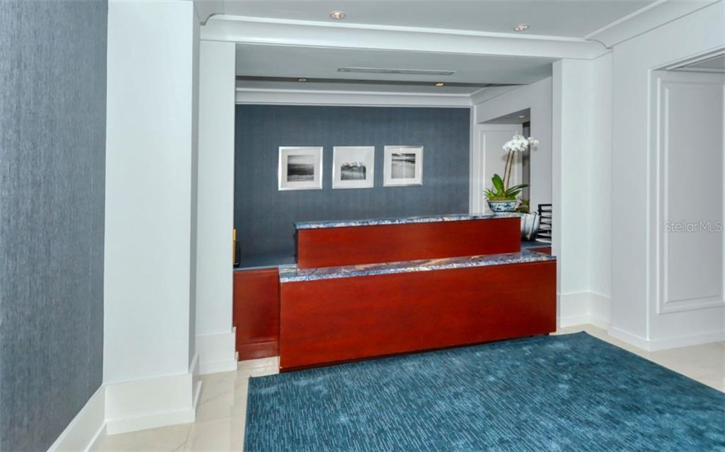 Concierge desk - Condo for sale at 1350 Main St #1001, Sarasota, FL 34236 - MLS Number is A4472708