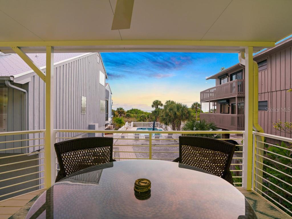 Sunset beach views from covered porch - Single Family Home for sale at 500 Beach Rd #1, Sarasota, FL 34242 - MLS Number is A4474527