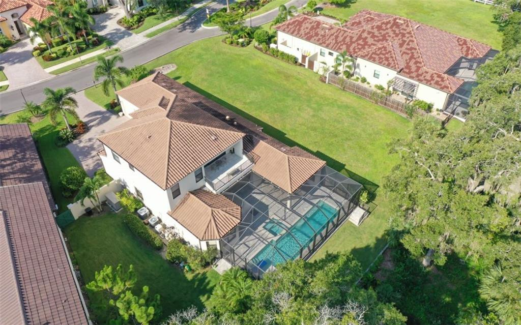 Overhead view of 353 Trebor Lane - Single Family Home for sale at 3538 Trebor Ln, Sarasota, FL 34235 - MLS Number is A4475545