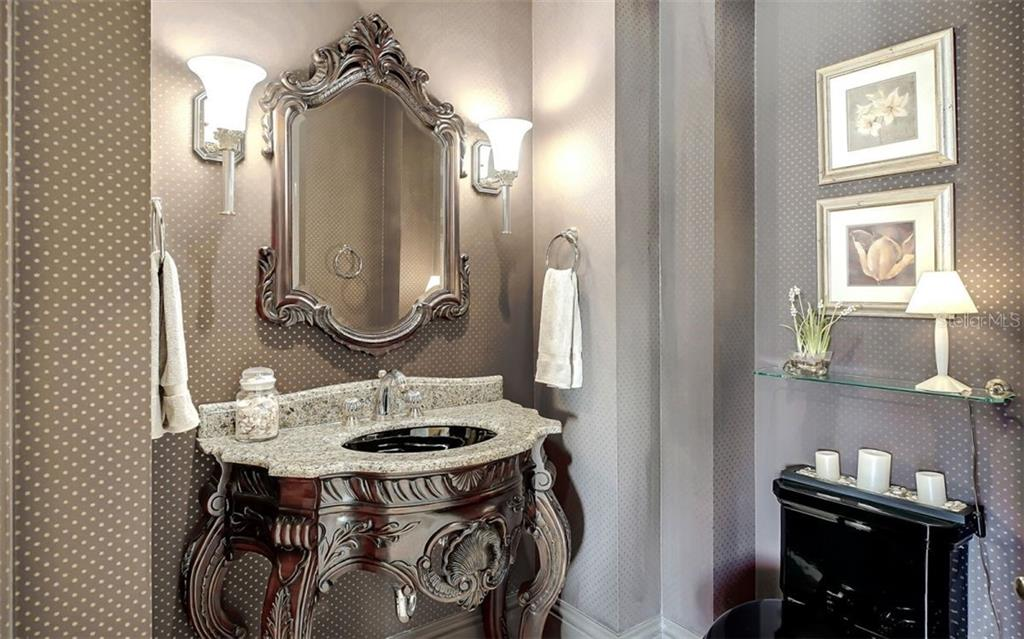Powder Room - Single Family Home for sale at 35 Lighthouse Point Dr, Longboat Key, FL 34228 - MLS Number is A4477572