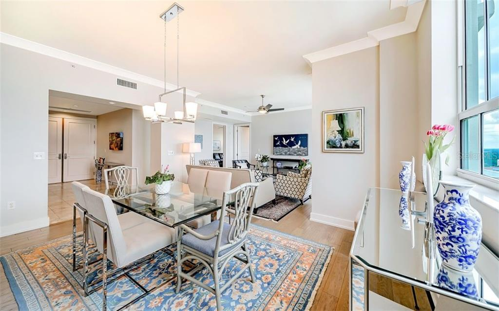 Double entry doors open to the foyer - Condo for sale at 1350 Main St #1601, Sarasota, FL 34236 - MLS Number is A4478753