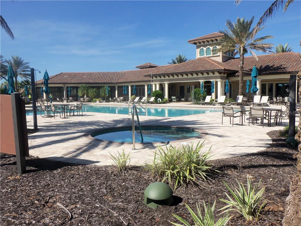 Clubhouse Pool and Spa - Single Family Home for sale at 11210 Sandhill Preserve Dr, Sarasota, FL 34238 - MLS Number is A4479893