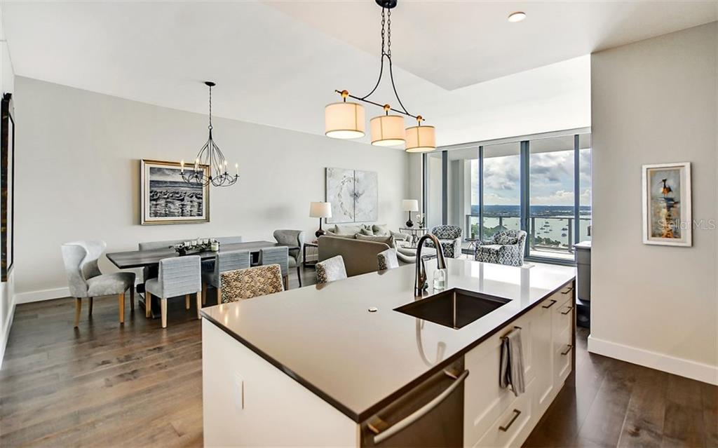 Quartz countertops - Condo for sale at 1155 N Gulfstream Ave #1701, Sarasota, FL 34236 - MLS Number is A4480090