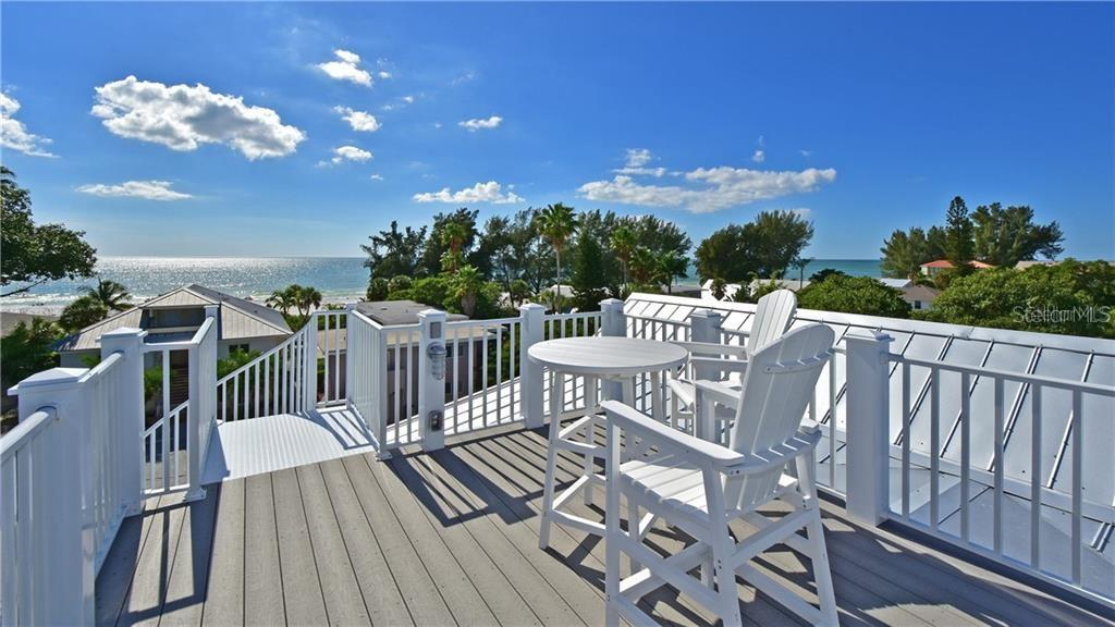 Rooftop deck overlooking the Gulf of Mexico - Single Family Home for sale at 109 Palm Ave, Anna Maria, FL 34216 - MLS Number is A4481814