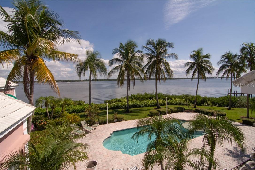 View from second floor balcony. - Single Family Home for sale at Address Withheld, Sarasota, FL 34242 - MLS Number is A4483403