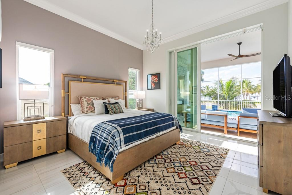 3rd Guest Bedroom w/Sliders Off Of The Pool Deck Lounge Area - Single Family Home for sale at 121 Seagull Ln, Sarasota, FL 34236 - MLS Number is A4483951