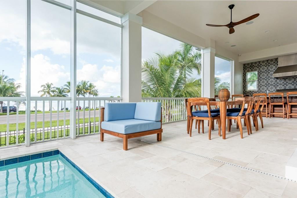 Pool Deck Off Of Great Room - Single Family Home for sale at 121 Seagull Ln, Sarasota, FL 34236 - MLS Number is A4483951