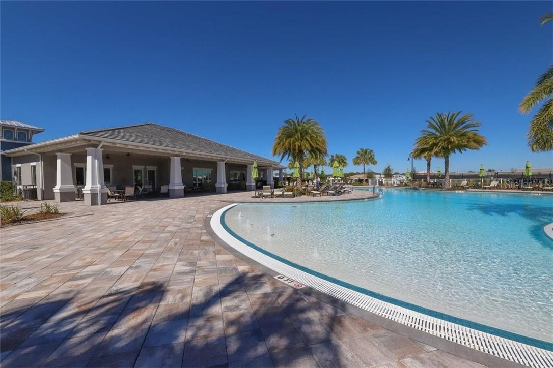 Zero clearance for all to enjoy, bring the little ones to splash and play with no worries about deep water. - Single Family Home for sale at 11713 Blue Hill Trl, Bradenton, FL 34211 - MLS Number is A4490622