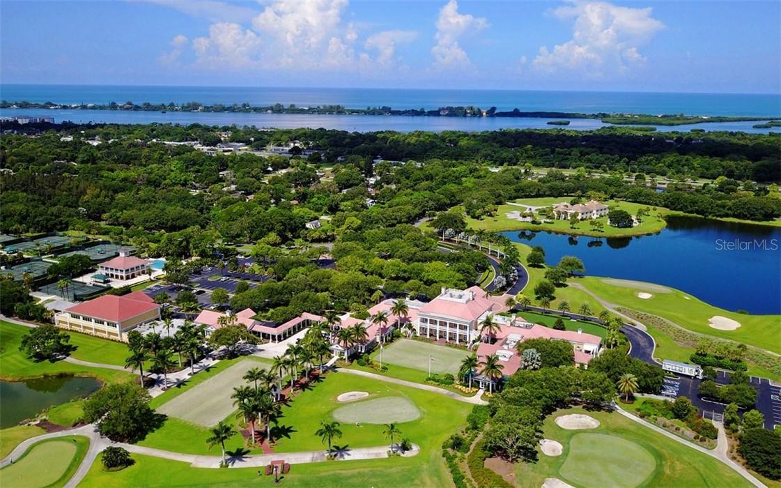 Aerial view of the beautiful Oaks Country Club - Condo for sale at 409 N Point Rd #402, Osprey, FL 34229 - MLS Number is A4491620