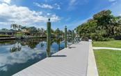 Straight ahead about 600 feet is the Bay! - Single Family Home for sale at 390 Bob White Dr, Sarasota, FL 34236 - MLS Number is A4413388