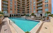 A large pool ready for fun and exercise - Condo for sale at 1350 Main St #1201, Sarasota, FL 34236 - MLS Number is A4427507