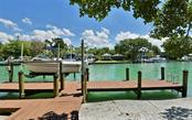 12,000 lb. boat lift and spacious dock - Single Family Home for sale at 3525 White Ln, Sarasota, FL 34242 - MLS Number is A4433441