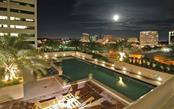The pool in the evening - Condo for sale at 1350 Main St #1500, Sarasota, FL 34236 - MLS Number is A4433444