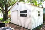 Shed for all your toys, including a riding lawn mower with bagger. - Single Family Home for sale at 2220 Pine Ter, Sarasota, FL 34231 - MLS Number is A4440562