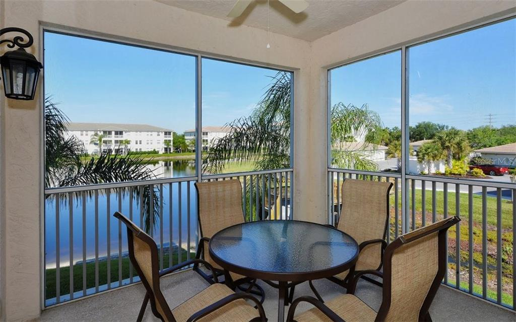 Patio with a view of the pond - Condo for sale at 500 San Lino Cir #524, Venice, FL 34292 - MLS Number is N5912607