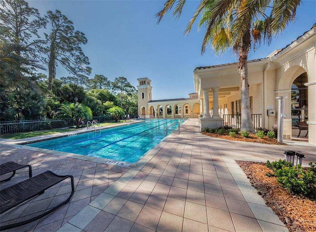 Community pool - Single Family Home for sale at 221 Portofino Dr, North Venice, FL 34275 - MLS Number is N5914925