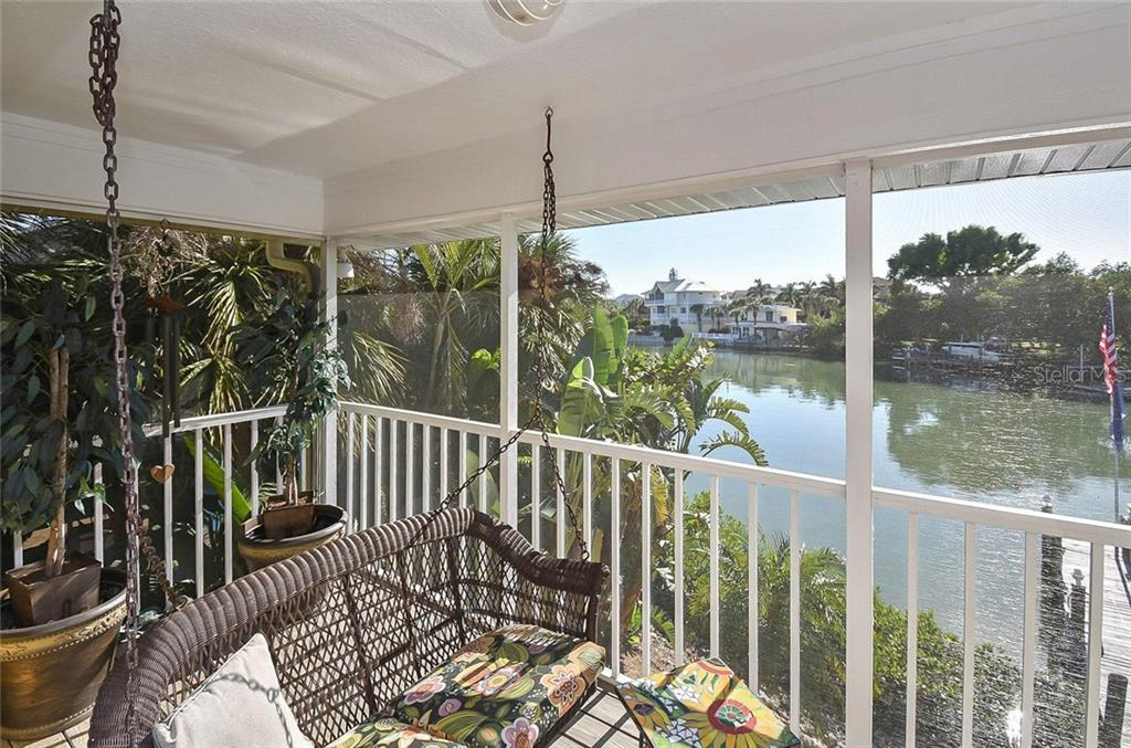 View from lanai - Single Family Home for sale at 910 Casey Cove Dr, Nokomis, FL 34275 - MLS Number is N5915385