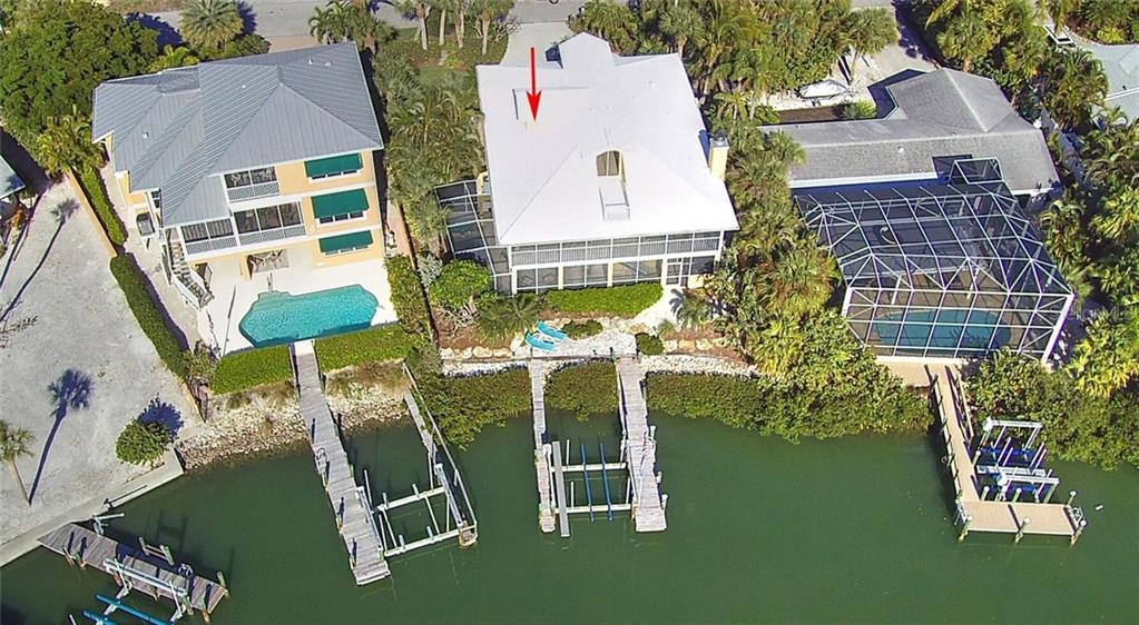 Aerial - Single Family Home for sale at 910 Casey Cove Dr, Nokomis, FL 34275 - MLS Number is N5915385