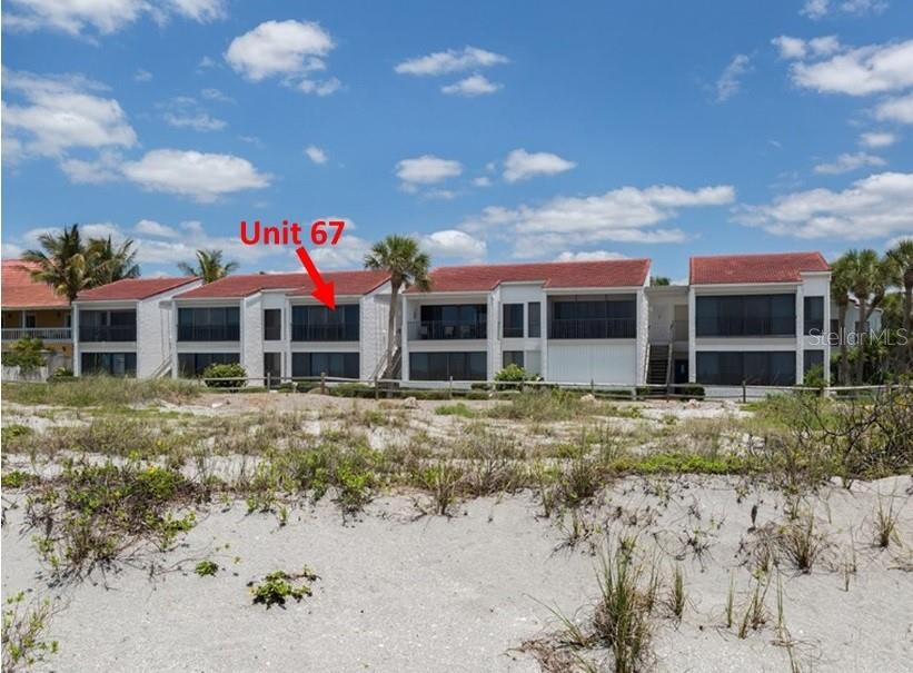 Unit 67, a view from the beach. - Condo for sale at 500 Park Blvd S #67, Venice, FL 34285 - MLS Number is N6100360