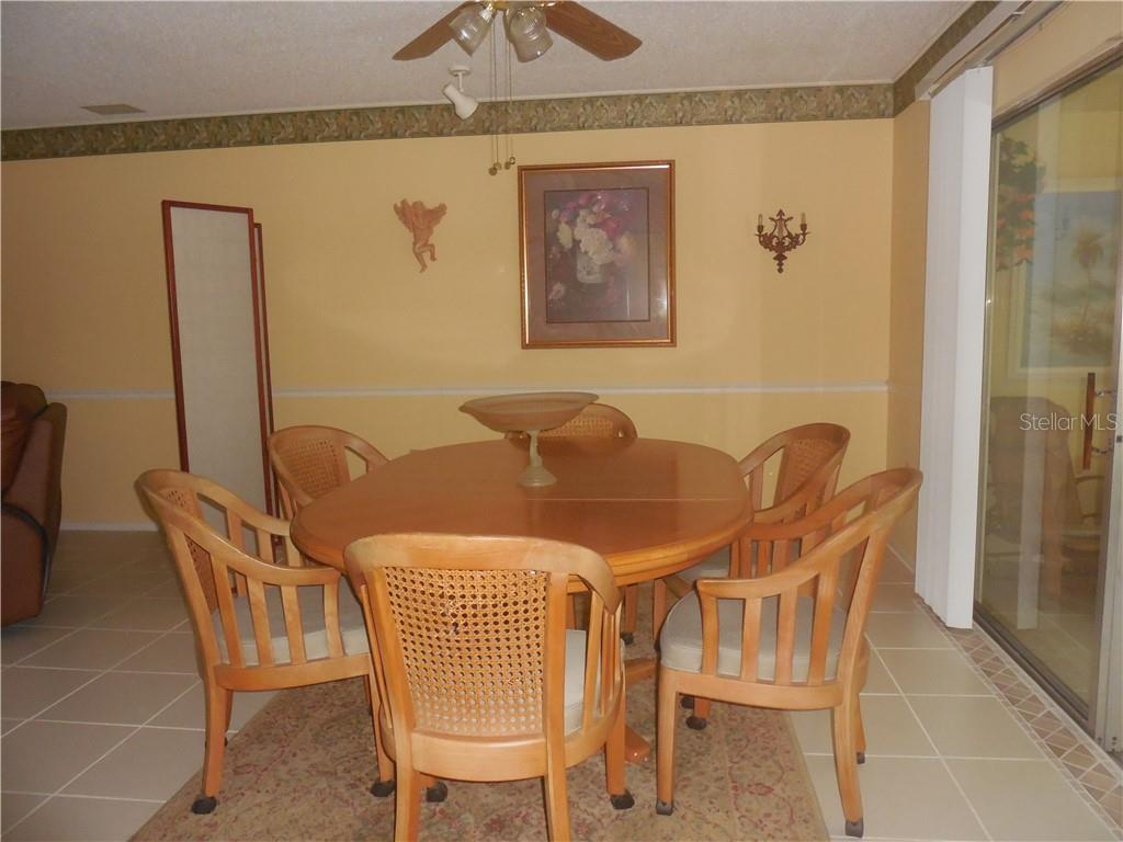 Dining Area - Villa for sale at 3371 Tallywood Ct #7124, Sarasota, FL 34237 - MLS Number is N6102458