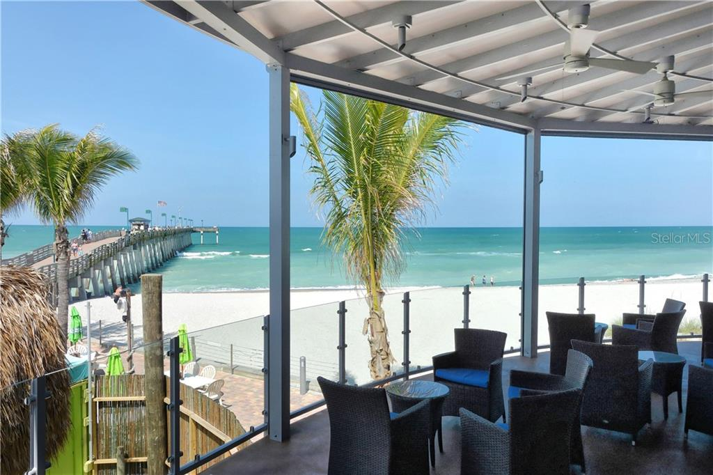 View of Venice Fishing Pier from Fin's Restaurant - Single Family Home for sale at 821 Adonis Pl, Venice, FL 34292 - MLS Number is N6104303