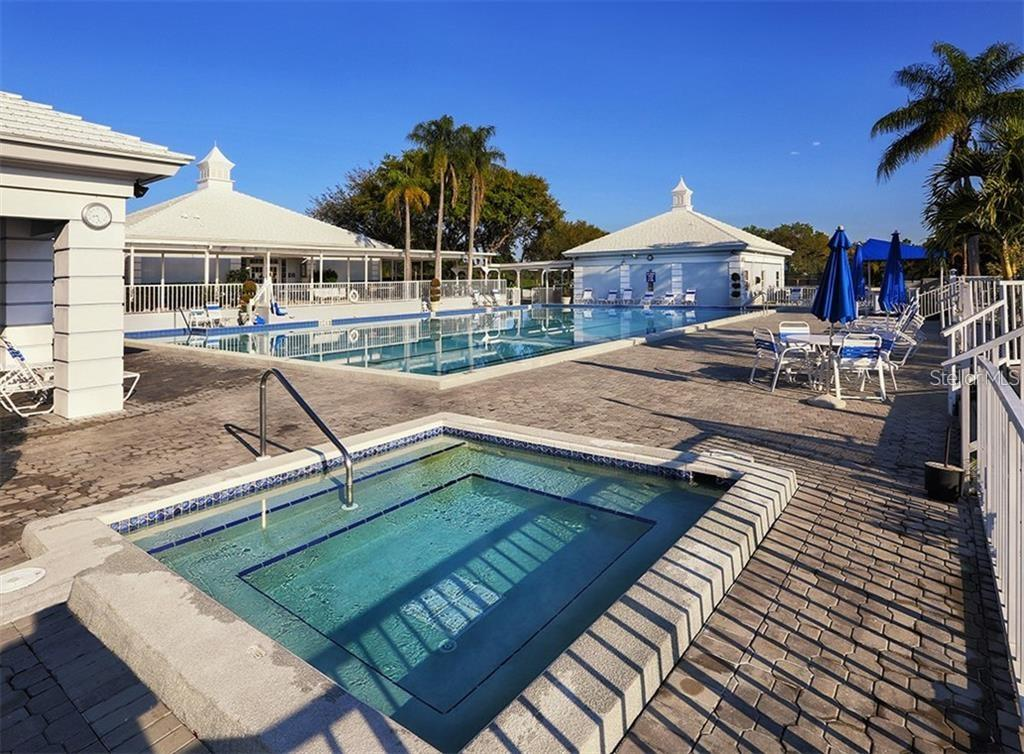 Plantation Golf & Country Club Swimming Pool & Hot Tub - Condo for sale at 404 Cerromar Cir N #110, Venice, FL 34293 - MLS Number is N6107227
