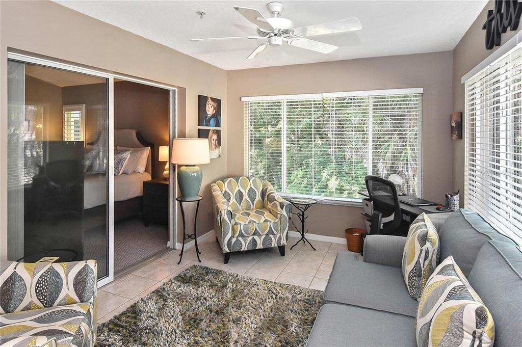 Florida room has sliders into Owner's Suite - Condo for sale at 817 Montrose Dr #204, Venice, FL 34293 - MLS Number is N6108125
