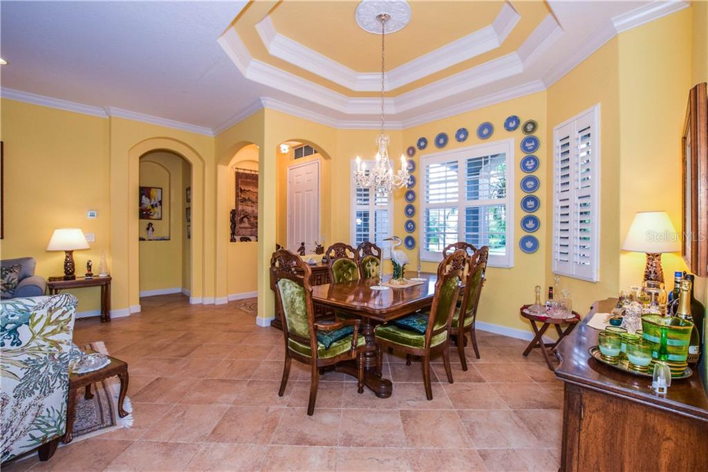 Dining room - Single Family Home for sale at 154 Rimini Way, North Venice, FL 34275 - MLS Number is N6112459